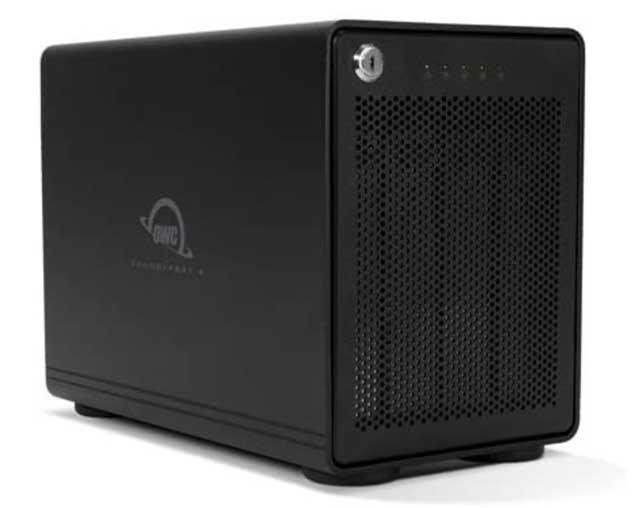 OWC 4-Bay Storage Enclosure with Dual Thunderbolt 3 Ports